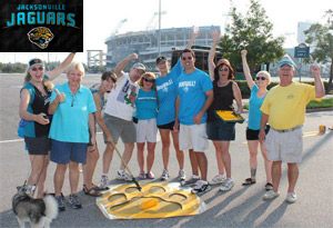 2012 - Painting the Jacksonville Jaguars Paw Prints in downtown Jacksonville, Florida