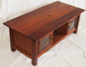 custom made mahogany and walnut, solid wood coffee table