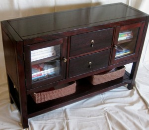 Custom made mahogany console