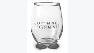 glass half full - positive attitude
