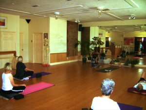 Yoga class at Jacksonville Yoga studio.
